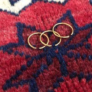 14k gold plated stackable rings